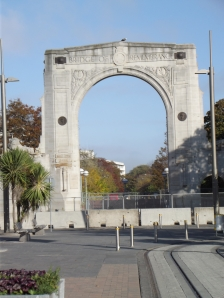 The Bridge of Remembrance - one of two Christchurch war memorials
